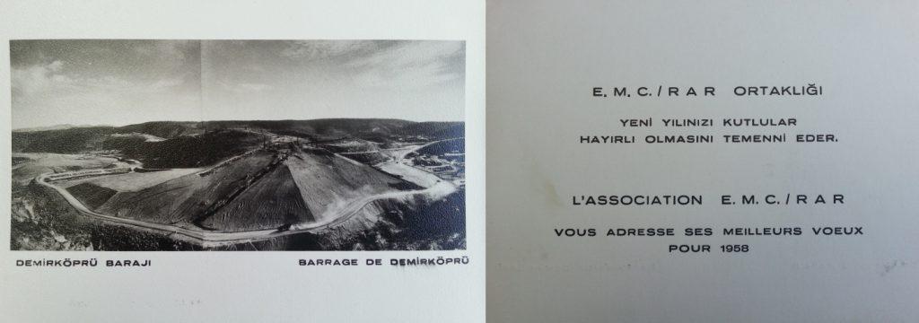 Resim 4. E.M.C. RAR Ortaklığı yeni yıl tebrik kartı